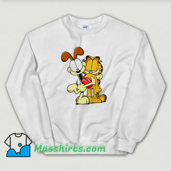 Awesome Garfield Odie Hugging Garfield Sweatshirt