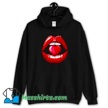 Awesome Red Mouth Lip Kiss Girl Hoodie Streetwear