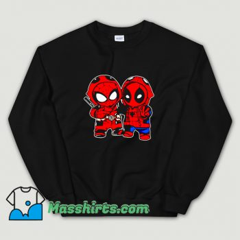 Baby Deadpool And Baby Spider Man Sweatshirt