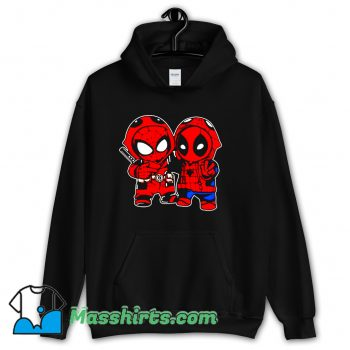 Baby Deadpool And Baby Spider Man Hoodie Streetwear