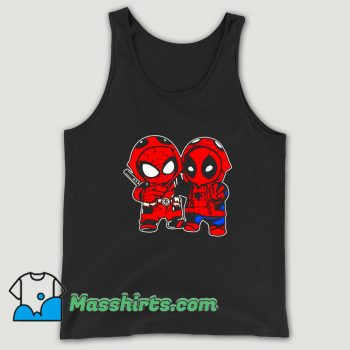 Baby Deadpool And Baby Spider Man Tank Top