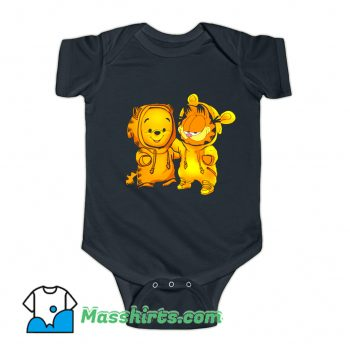 Baby Pooh Bear And Baby Garfield Baby Onesie