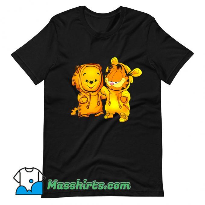 Baby Pooh Bear And Baby Garfield Cute T Shirt Design
