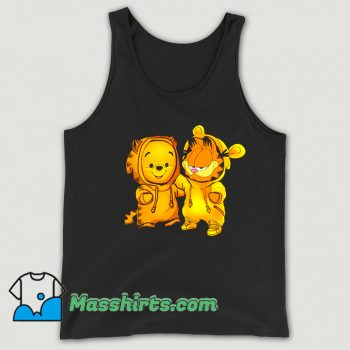 Baby Pooh Bear And Baby Garfield Tank Top
