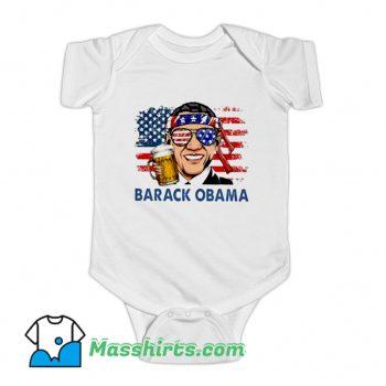 Barack Obama Hold Beer Baby Onesie