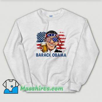 Funny Barack Obama Hold Beer Sweatshirt