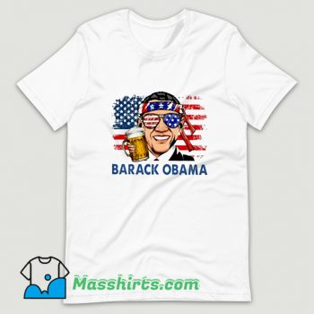 Best Barack Obama Hold Beer T Shirt Design