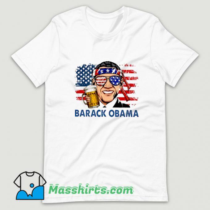 Best Barack Obama Hold Beer T Shirt Design