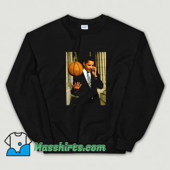 Original Barack Obama Playing Basketball Sweatshirt