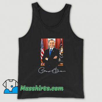Cute Barack Obama Signature Political Tank Top