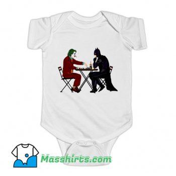 Batman And Joker Playing Chess Baby Onesie