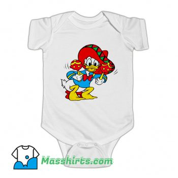 Best Mexican Donald Duck Baby Onesie