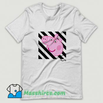 Best Off White Cartoon Peppa Pig T Shirt Design