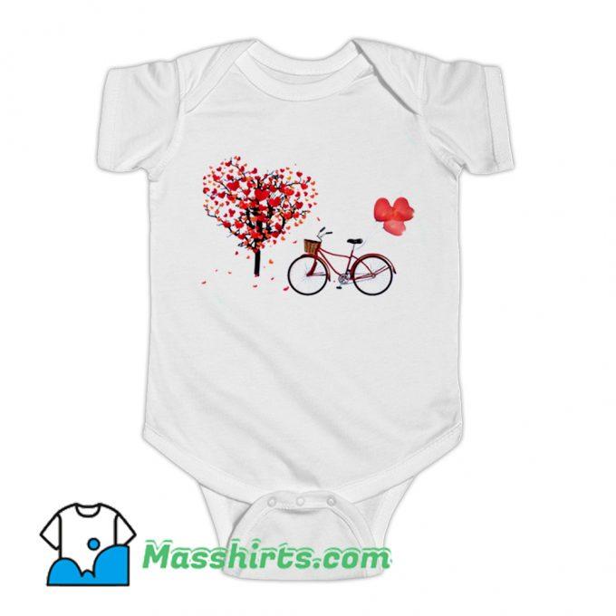 Bicycle Vogue Girl Korean Style Baby Onesie