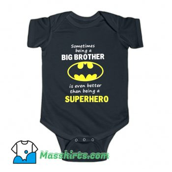 Big Brother Batman Baby Onesie