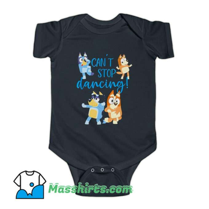 Bluey Dad Cant Stop Dancing Baby Onesie