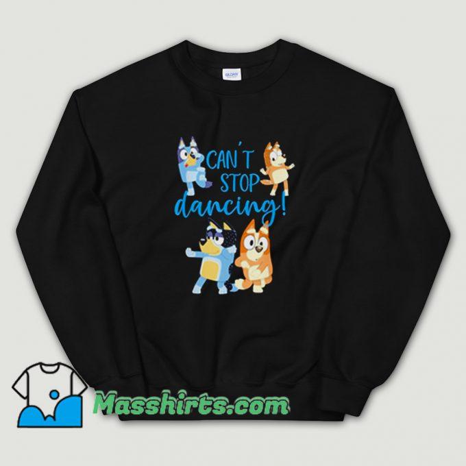 Bluey Dad Cant Stop Dancing Sweatshirt