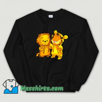 Cartoon Baby Pooh Bear And Baby Garfield Sweatshirt