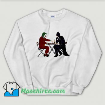 Cartoon Batman And Joker Playing Chess Sweatshirt