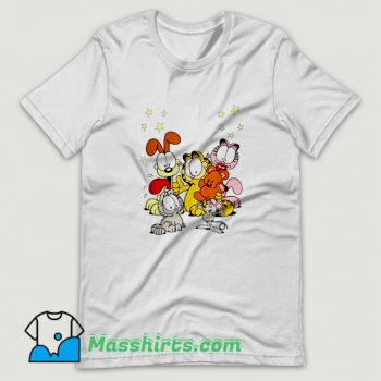Cartoon Garfield Friends Are Best T Shirt Design