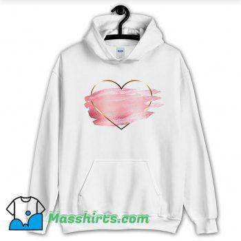 Cheap Heart Flower Love Valentine Day Hoodie Streetwear