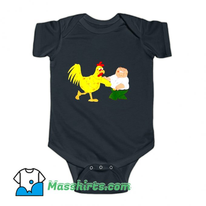Classic Chicken Fight Family Guy Baby Onesie