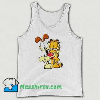 Classic Garfield Odie Hugging Garfield Tank Top