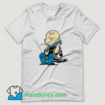 Classic Off White Jordan X Charlie Brown T Shirt Design