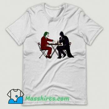 Cute Batman And Joker Playing Chess T Shirt Design