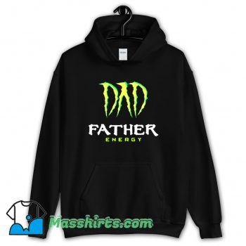 Vintage Dad Father Energy Monster Hoodie Streetwear