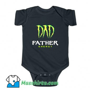 Dad Father Energy Monster Baby Onesie