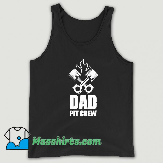 Cheap Dad Pit Crew Father Day Tank Top