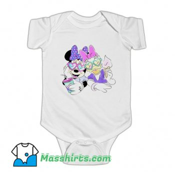 Daisy Duck And Minnie Mouse Baby Onesie