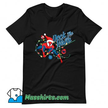 Deck The Walls Spiderman Christmas T Shirt Design