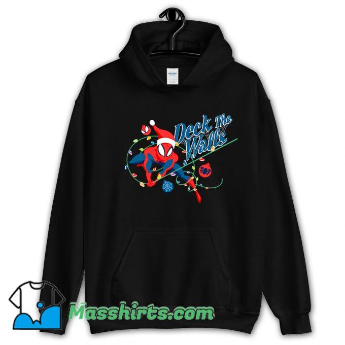 Deck The Walls Spiderman Christmas Hoodie Streetwear