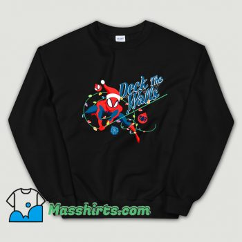 Deck The Walls Spiderman Christmas Sweatshirt