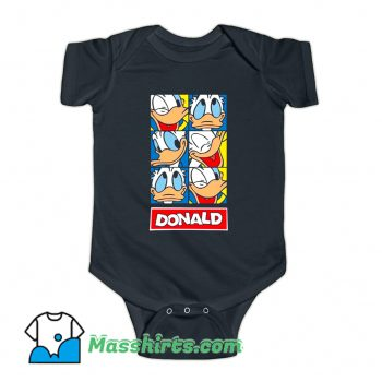 Disney Donald Duck Face Cartoon Baby Onesie
