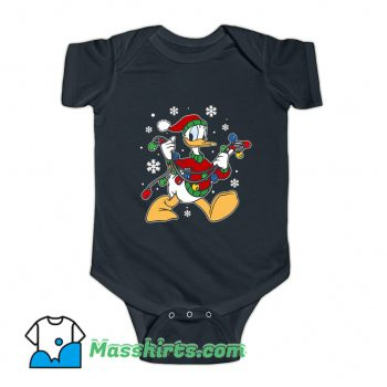 Donald Duck Christmas Light Baby Onesie