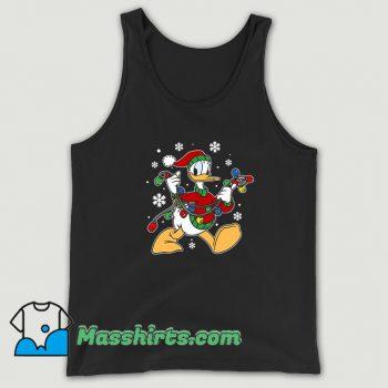 Donald Duck Christmas Light Tank Top