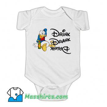Donald Duck Drink Drank Drunk Baby Onesie On Sale