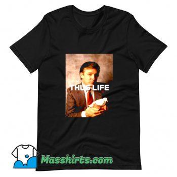 Funny President Donald Trump Thug Life T Shirt Design