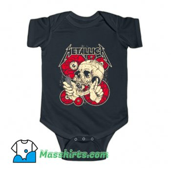 Eyes And Skull Metallica Baby Onesie