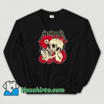 Cute Eyes And Skull Metallica Sweatshirt