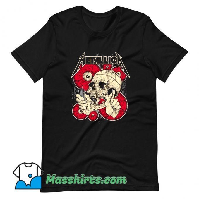 Cheap Eyes And Skull Metallica T Shirt Design
