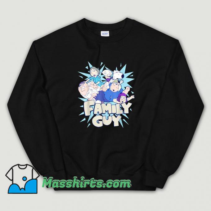 Classic Family Guy Fight Logo Sweatshirt