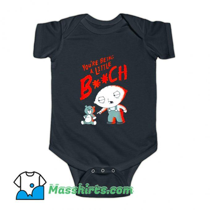 Family Guy Stewie Being A Little B Baby Onesie