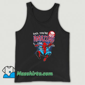 Father Day Spider Man Comic Tank Top