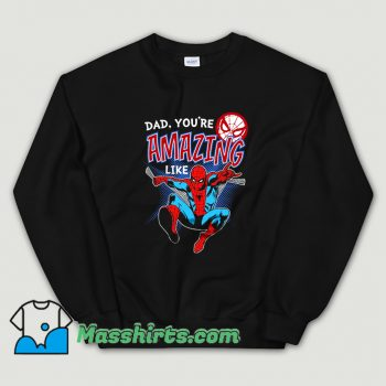Funny Father Day Spider Man Comic Sweatshirt