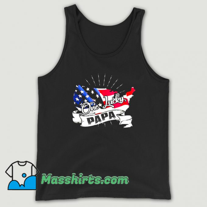 Father Day One Lucky Papa Tank Top