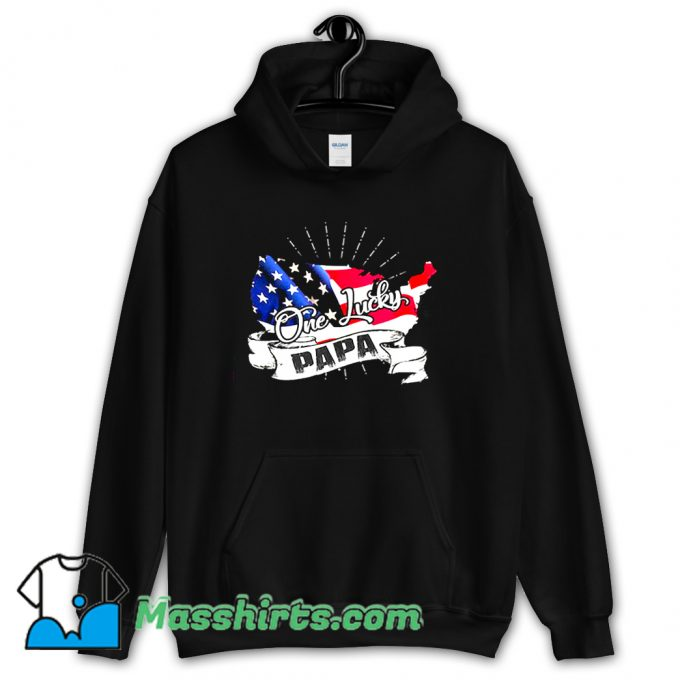 Classic Father day One Lucky Papa Hoodie Streetwear